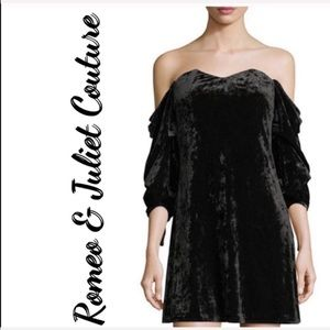 Romeo & Juliet Couture off the  Shoulder dress